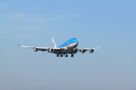 October, 22nd 2011, Amsterdam Schiphol Airport PH-BFV KLM Royal Dutch Airlines Boeing 747-406 landing on Polderbaan
