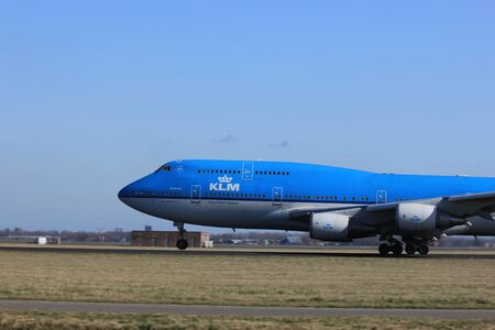 March, 11st 2012, Amsterdam Schiphol Airport PH-BFG KLM Royal Dutch Airlines Boeing 747-406 take off from Polderbaan Runway