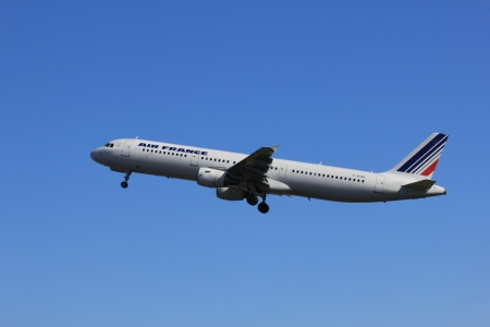 March, 11st 2012, Amsterdam Schiphol Airport F-GTAE Air France Airbus A321-212 take off from Polderbaan Runway