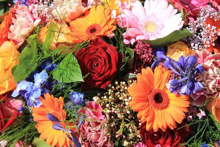 Flower arrangement in many bright colors and different sorts of flowers Stock Photo - 13008686