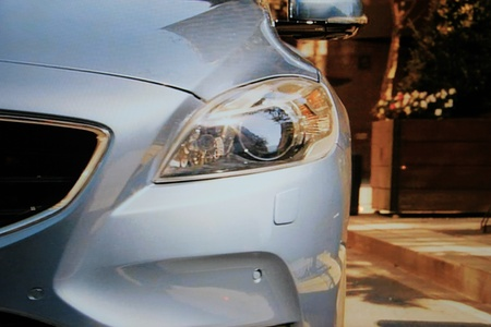 March 31st, Beesd the Netherlands Presentation of new Volvo V40, advertisement in detail on big screen
