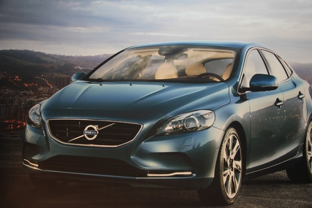 March 31st, Beesd the Netherlands Presentation of new Volvo V40, advertisement in detail on big screen Stock Photo - 13021612