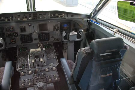 Detail of the cockpit of a small passenger airplane Stock Photo - 13198296