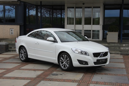 March 31st, Beesd the Netherlands Presentation of new Volvo V40, C70 parked outside in front of Dutch Volvo headquarters