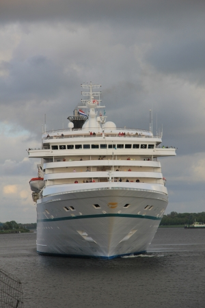 Reisen: May, 12th 2012 IJmuiden, the Netherlands, the Artania. The Artania is a 754.5ft long cruise ship, built in 1984, owned and operated by Phoenix Reisen Editorial