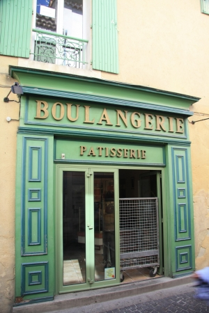 Facade of a bakkery in France, Avignon