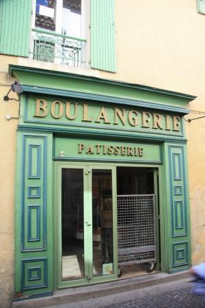 Gevel van een bakkerij in Frankrijk, Avignon