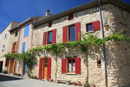 Old houses in the french region Provence Stock Photo