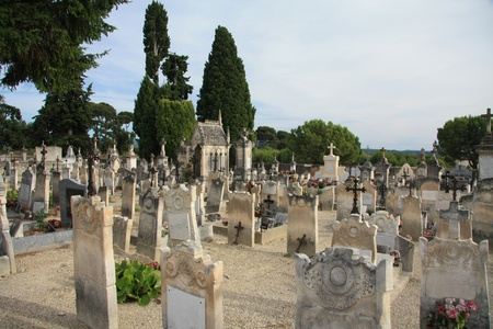 mortality: An old cemetery in the Provence, France