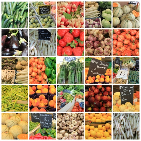 XL-collage made from 25 different high resolution fruit and vegetables images Stock Photo - 13919065