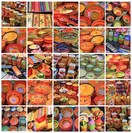 XL-collage a partir de 25 imágenes diferentes de alta resolución de cerámica provenzal Foto de archivo - 13919069