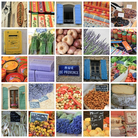 XL-collage made from 25 different high resolution Provence related images