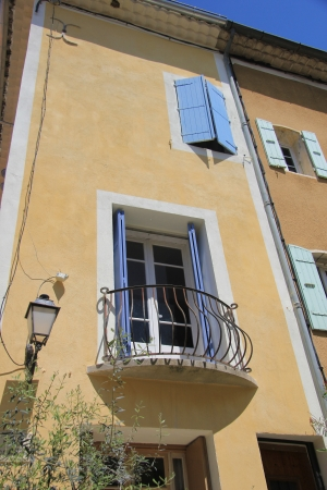 Small balcony on a house in the Provence, France photo