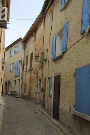 Small street in an old village in the Provence photo