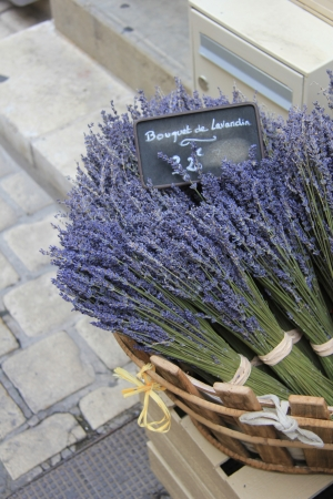 Lavender for sale on a local Provencal market photo