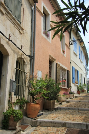 arles: street view in the city of Arles, France Stock Photo