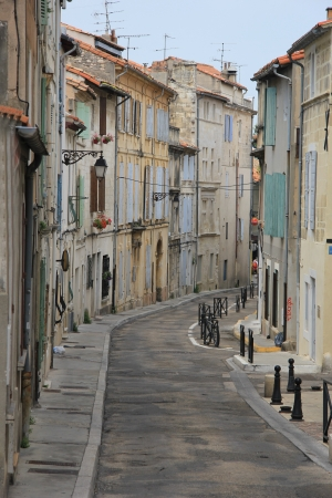 street view in the city of Arles, France photo