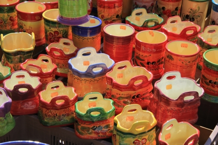 Traditional pottery on a local market in the Provence, France Stock Photo - 14062226