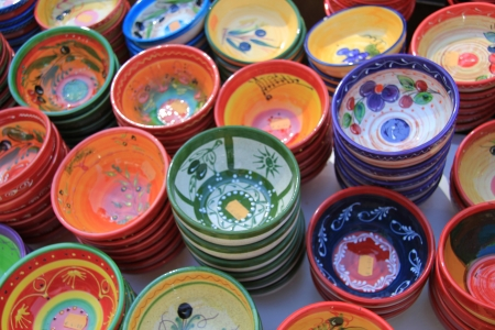 Traditional pottery on a local market in the Provence, France Stock Photo - 14062214