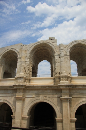 Detail of the Roman Arena in Arles, Provence, France Stock Photo - 14062287