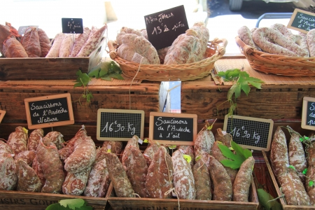 Traditional Provencal sausages on a local market Stock Photo - 14223955