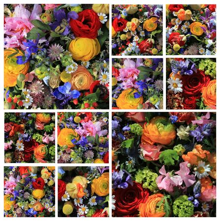 Ten different mixed bouquet images in a high resolution collage Stock Photo - 14540497
