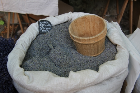 dry provisions: Lavender for sale on a local Provencal market