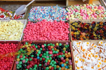Colorful candy at a French market photo