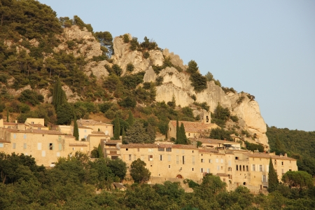 The village of Seguret in the Provence in the afternoon sun photo