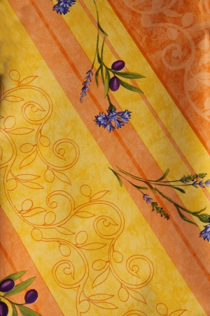provencal: Traditional Provencal patterns in different shades of yellow on cotton at a local market