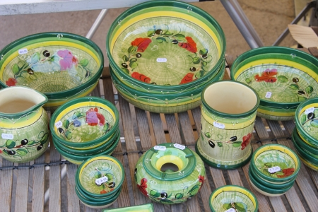provencal: Traditional pottery at a local market in the Provence, France