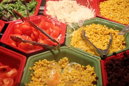 Salad bar at a self serve restaurant Stock Photo - 15357761