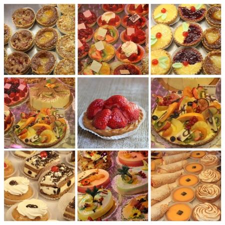 patisserie: Nove diverse immagini XL di pasticceria di lusso francese