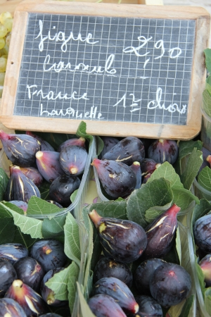 Fresh figs at a local market in the Provence, France photo