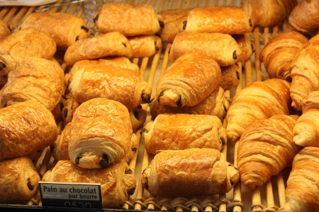 Luxury French bread at a pastry shop photo