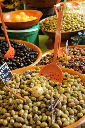 provencal: Assorted olives at a Provencal market in France Editorial
