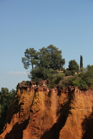 roussillon: Ochre colored rocks in Roussillon in the South of France