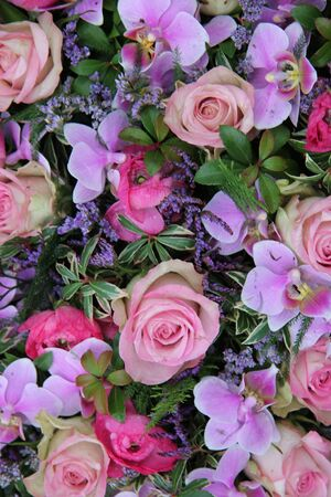 Mixed floral arrangement in pink and purple Stock Photo - 17457559