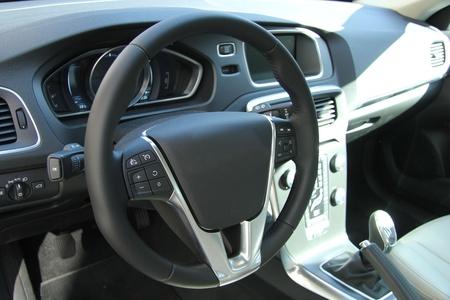 Dashboard of a new, luxury car photo