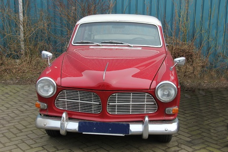 Vintage Red Swedish Car, made in 1966 photo