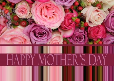パステル調のバラ母の日カード