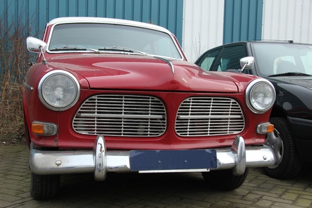 Vintage Red Swedish Car, made in 1966