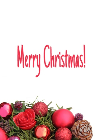 red centerpiece christmas card, ready to print Christmas card photo