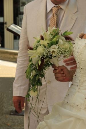 bruidsboeket: Bruid met waterval bruidsboeket
