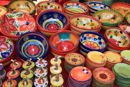 Colorful pottery from the Provence, France photo