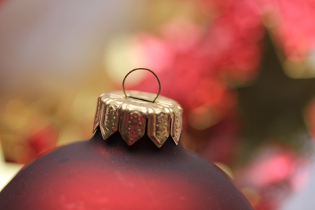 detail of a red Christmas ornament in extreme close-up Stock Photo - 22140969