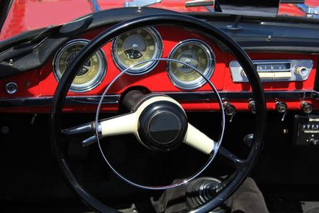 Dashboard of a vintage Italian car