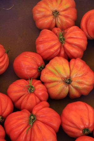 irregular shapes: Big irregular shapes tomatoes at a Provencal market Stock Photo