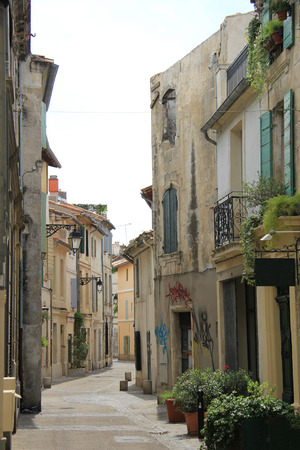 arles: Street with old houses in Arles, Provence