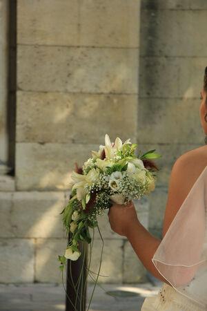 bruidsboeket: Bride bedrijf haar bruids boeket